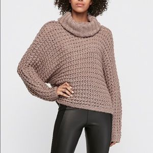 Express Brown Oversized Sweater